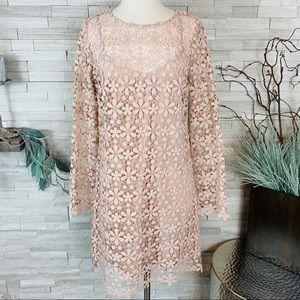 English Laundry NWT Lace Long Sleeve Minidress SML
